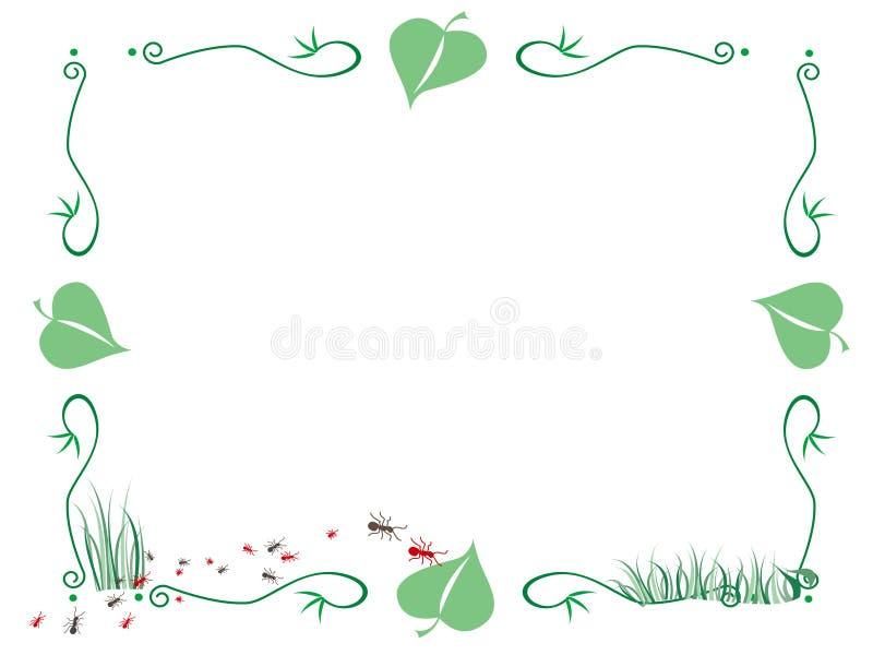 φύλλα πλαισίων μυρμηγκιών διανυσματική απεικόνιση