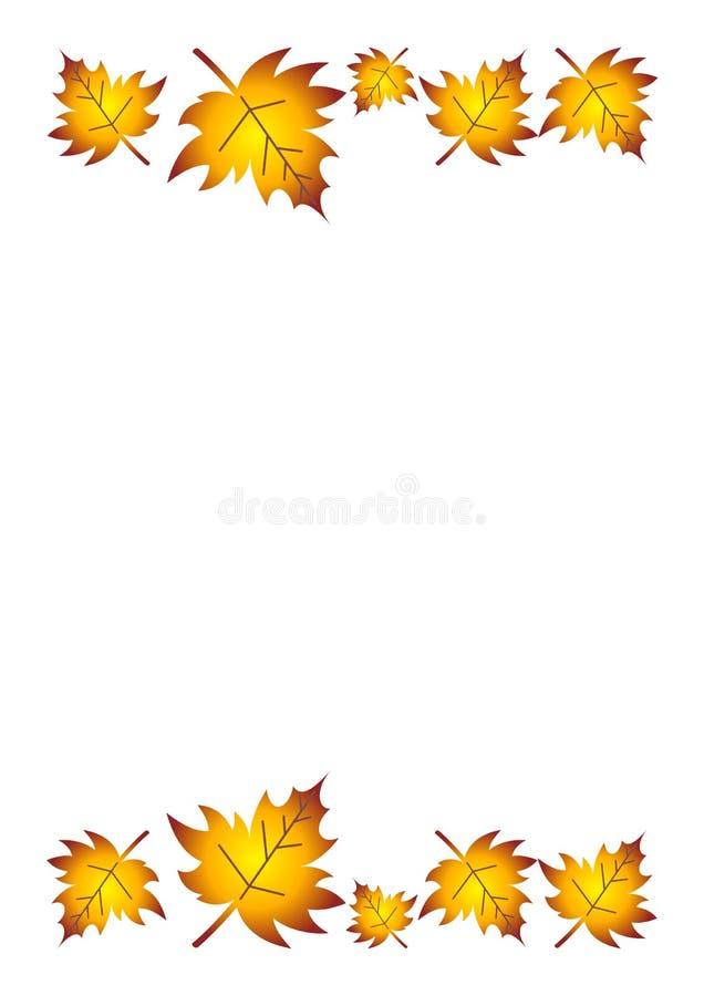 φύλλα πτώσης συνόρων διανυσματική απεικόνιση