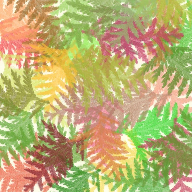 φύλλα ταπήτων βουρτσών απεικόνιση αποθεμάτων