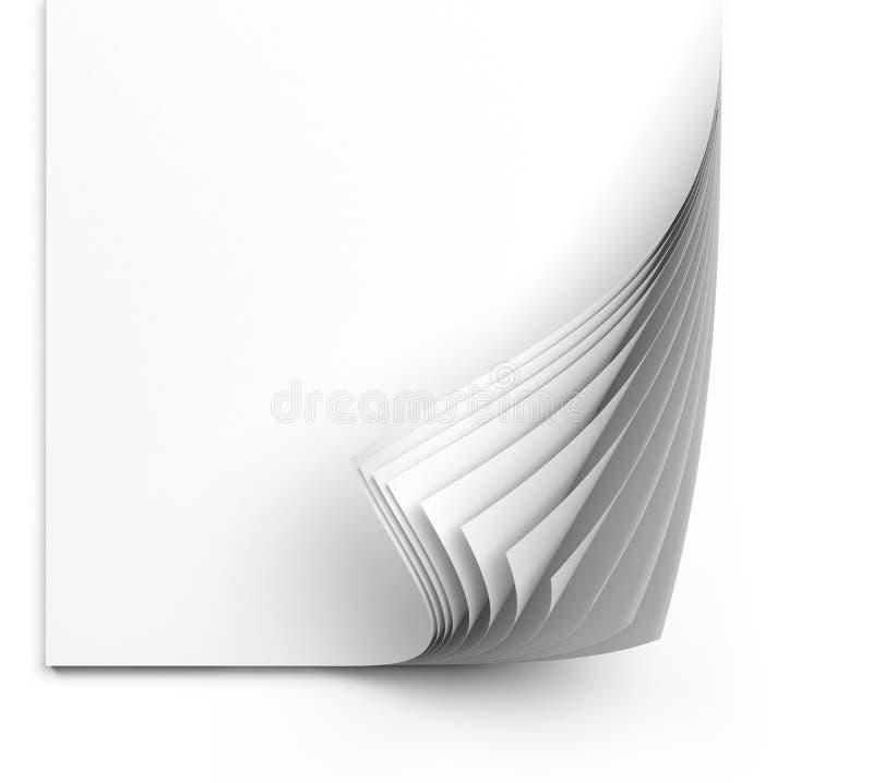 Φύλλα της Λευκής Βίβλου απεικόνιση αποθεμάτων