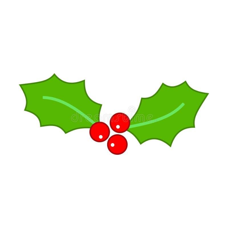 Φύλλα της Holly Χριστουγέννων ελεύθερη απεικόνιση δικαιώματος