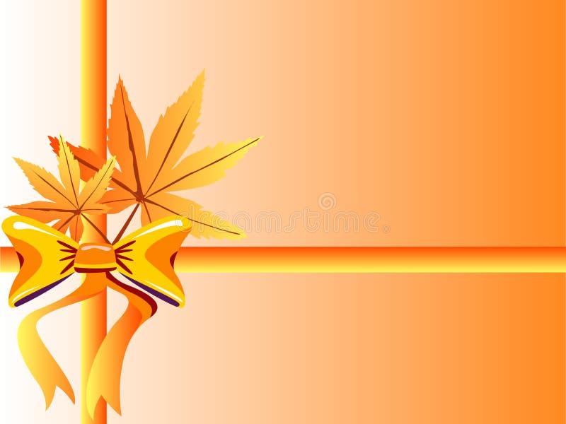 φύλλα τόξων φθινοπώρου ελεύθερη απεικόνιση δικαιώματος