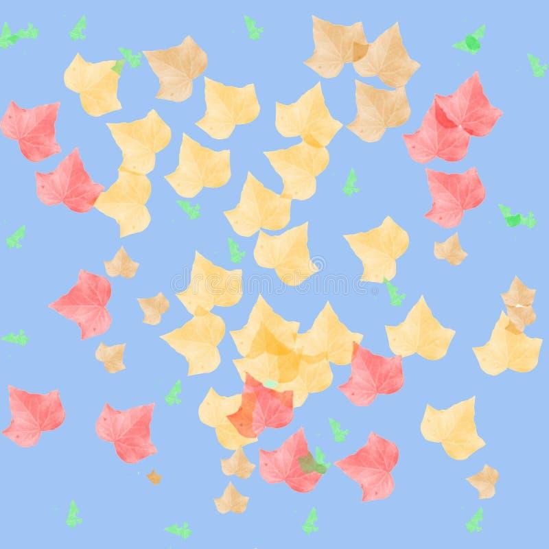 φύλλα φθινοπώρου τέχνης διανυσματική απεικόνιση