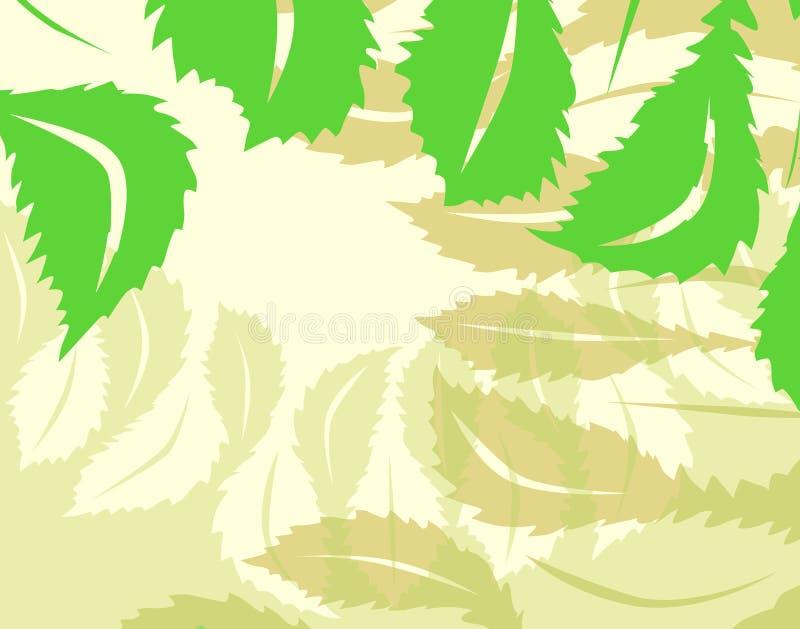 φύλλο ανασκόπησης διανυσματική απεικόνιση
