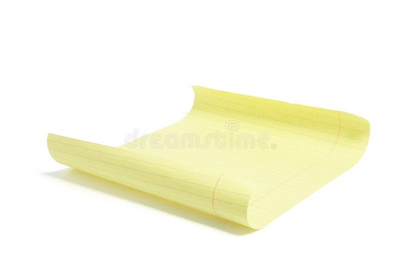 φύλλο εγγράφου κίτρινο στοκ φωτογραφίες