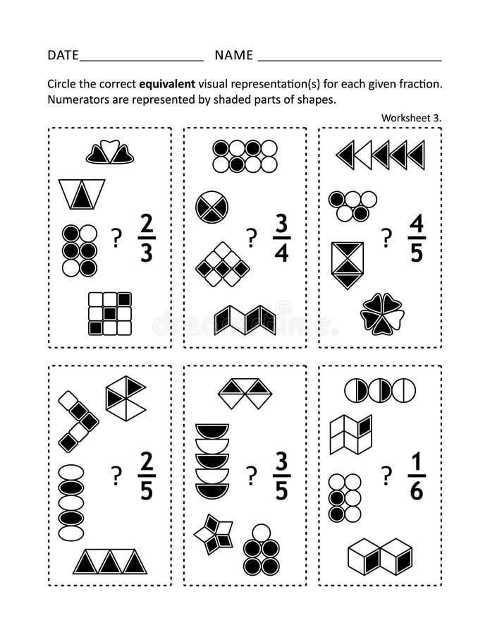 Φύλλο εργασίας πρακτικής Math για τα παιδιά και τους ενηλίκους ελεύθερη απεικόνιση δικαιώματος