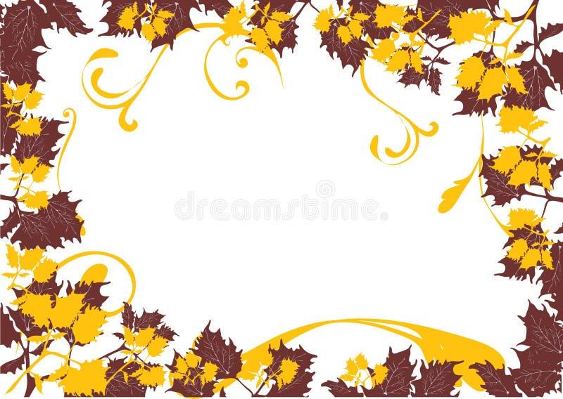 φύλλο καρτών φθινοπώρου απεικόνιση αποθεμάτων