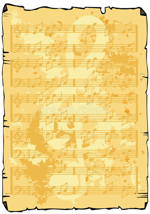 φύλλο μουσικής ανασκόπη&sig απεικόνιση αποθεμάτων