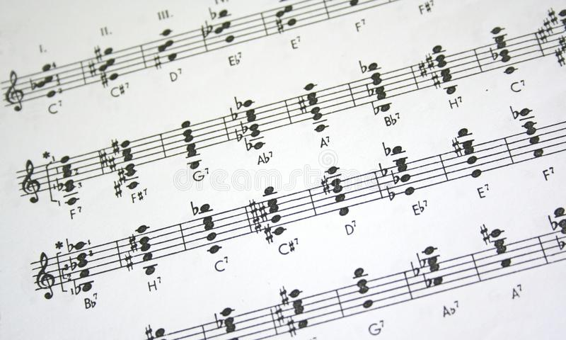 φύλλο μουσικής στοκ φωτογραφίες