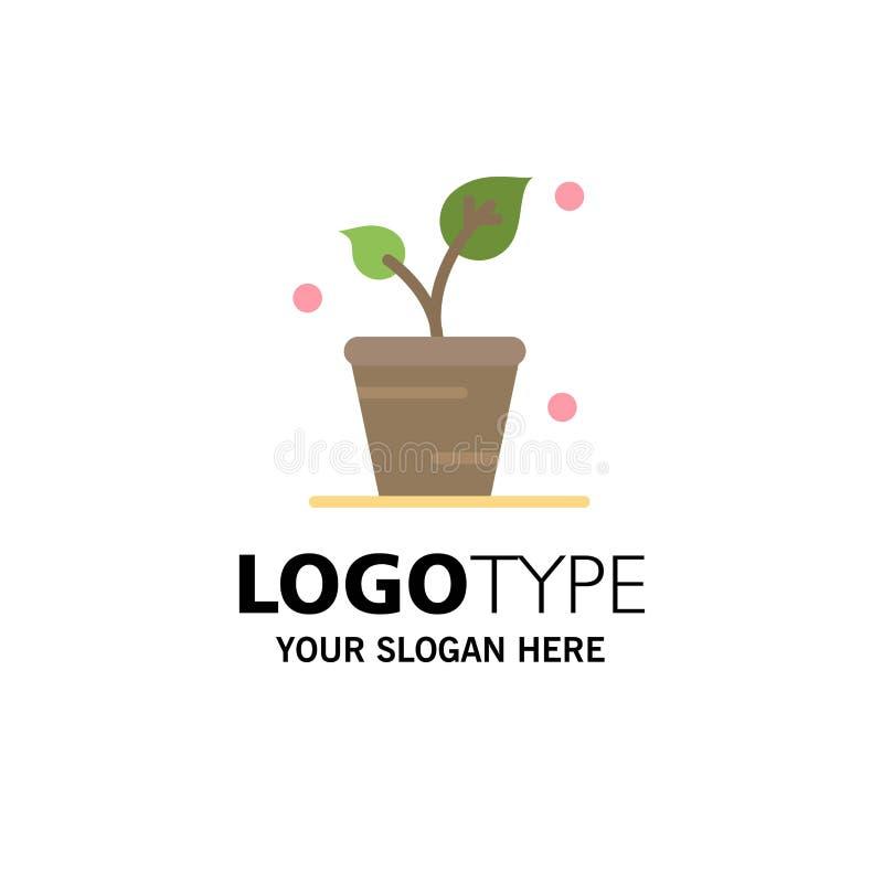 Φύλλο, οικολογία, άνοιξη, πρότυπο επιχειρησιακών λογότυπων φύσης Επίπεδο χρώμα ελεύθερη απεικόνιση δικαιώματος