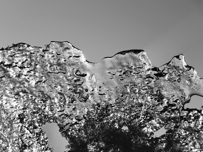 Φύλλο πάγου στον ήλιο στοκ φωτογραφίες με δικαίωμα ελεύθερης χρήσης