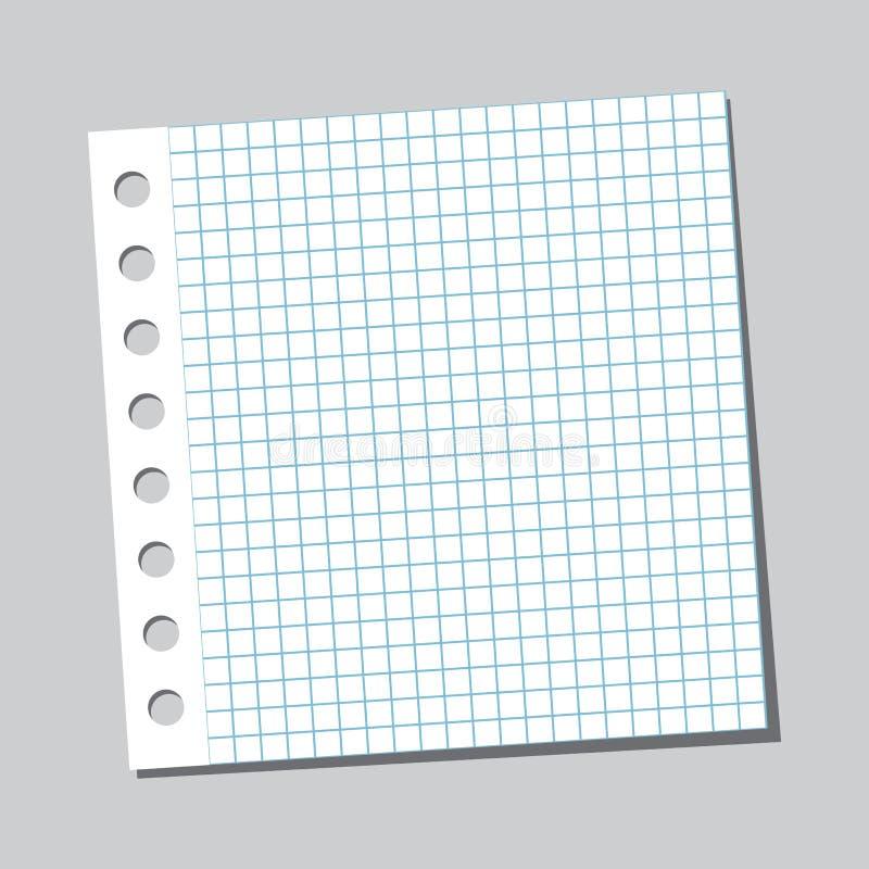Φύλλο σημειωματάριων με τη σκιά r ελεύθερη απεικόνιση δικαιώματος