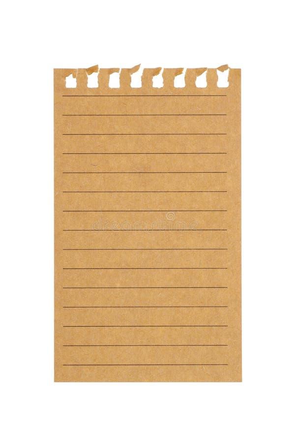 φύλλο του εγγράφου με τις γραμμές στοκ φωτογραφίες