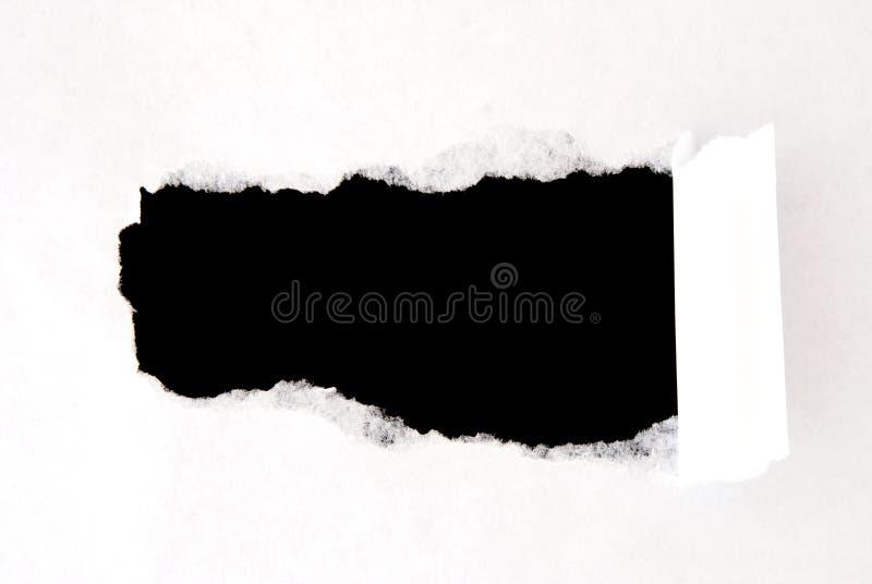 Φύλλο του σχισμένου εγγράφου στοκ φωτογραφίες