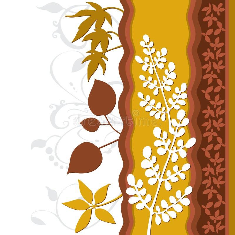 φύλλο φυλλώματος διακ&omicr διανυσματική απεικόνιση