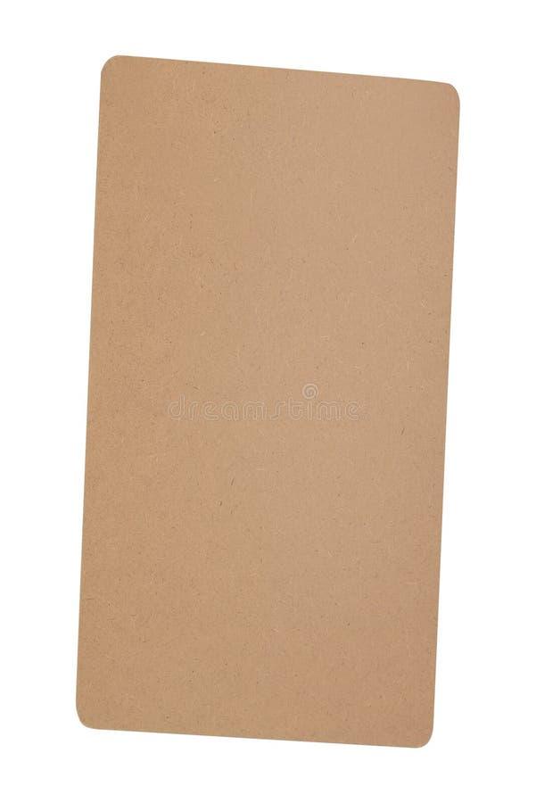 Φύλλο χαρτονιού που απομονώνεται στο λευκό στοκ φωτογραφία