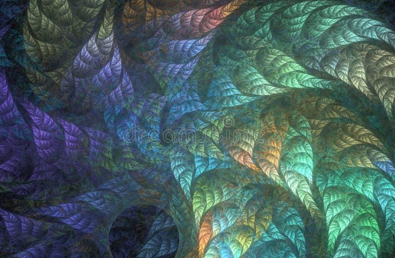 Φύλλωμα ουράνιων τόξων whirlwind διανυσματική απεικόνιση