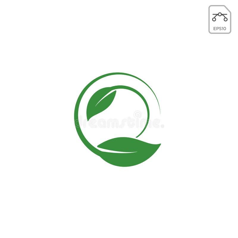 φύλλων φύσης λογότυπων έννοιας στοιχείο εικονιδίων που απομονώνεται διανυσματικό ελεύθερη απεικόνιση δικαιώματος