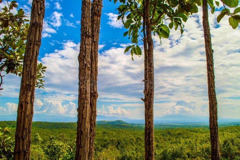 Φύση βουνών ουρανού στοκ εικόνες