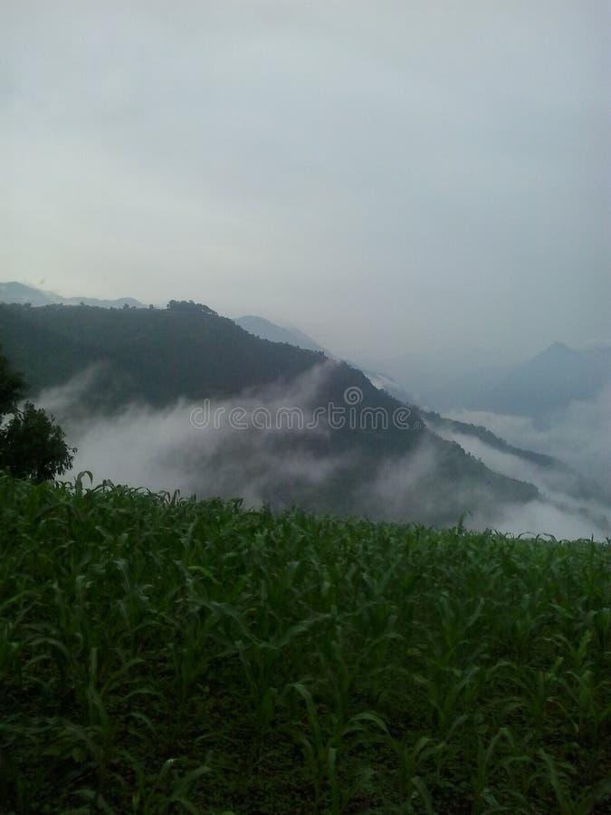Φύση βουνών πρωινού στη γη στοκ φωτογραφία με δικαίωμα ελεύθερης χρήσης