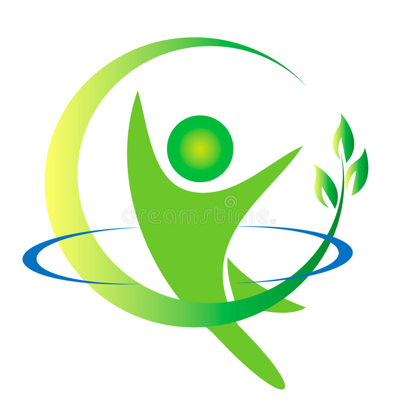 φύση λογότυπων υγείας διανυσματική απεικόνιση