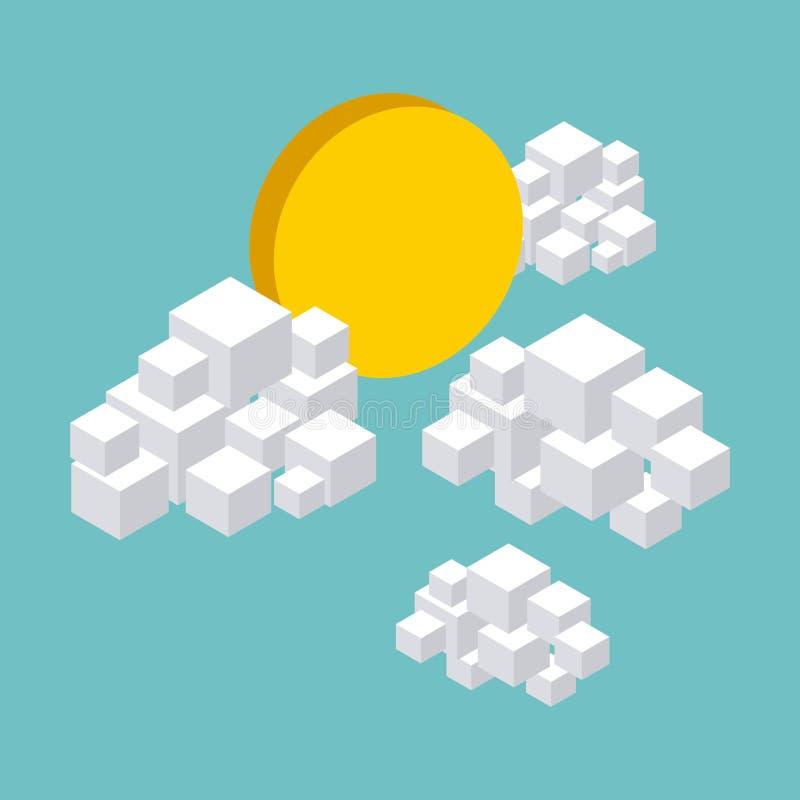 Φύση στο σχέδιο εικονοκυττάρων ελεύθερη απεικόνιση δικαιώματος