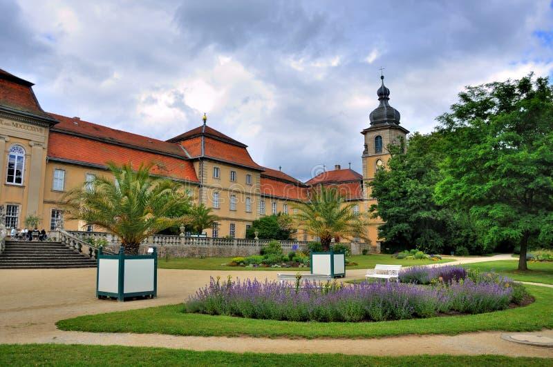 Φύση του θερινού πάρκου Schloss Fasanarie σε Fulda, Hesse, Γερμανία στοκ εικόνες