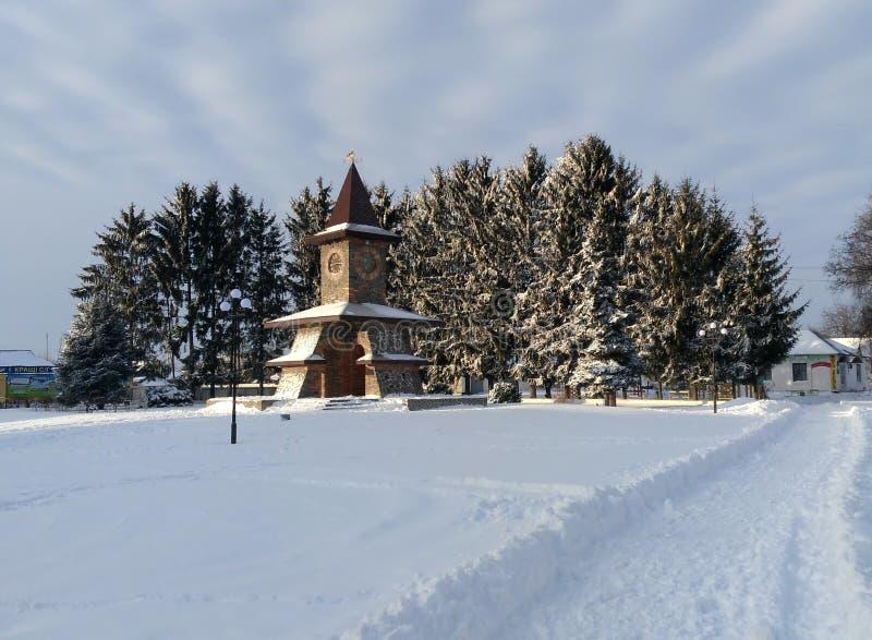 Φύση του χωριού χειμώνα της Ουκρανίας στοκ εικόνες