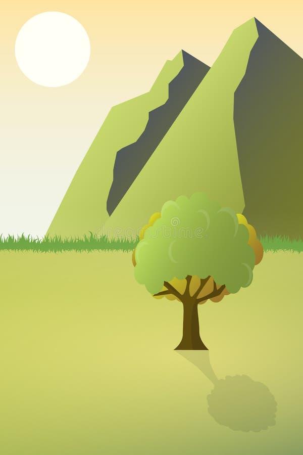Φύση το μεσημέρι Υπαίθρια έννοια σχεδίου Όμορφο τοπίο αμοιβή ελεύθερη απεικόνιση δικαιώματος
