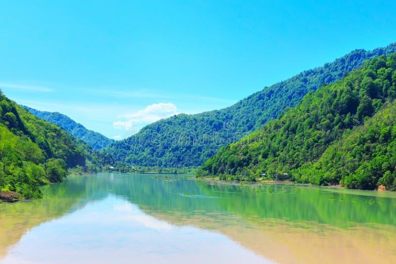 Φύση Adjara, λίμνη κοντά σε Batumi, Γεωργία στοκ φωτογραφίες με δικαίωμα ελεύθερης χρήσης