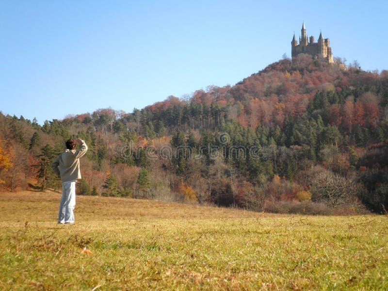 Φύση Hohenzollern Castle ατόμων στοκ εικόνες