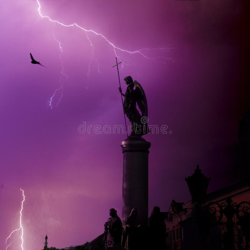 Φύλακας αγγέλου της πόλης στοκ εικόνες με δικαίωμα ελεύθερης χρήσης