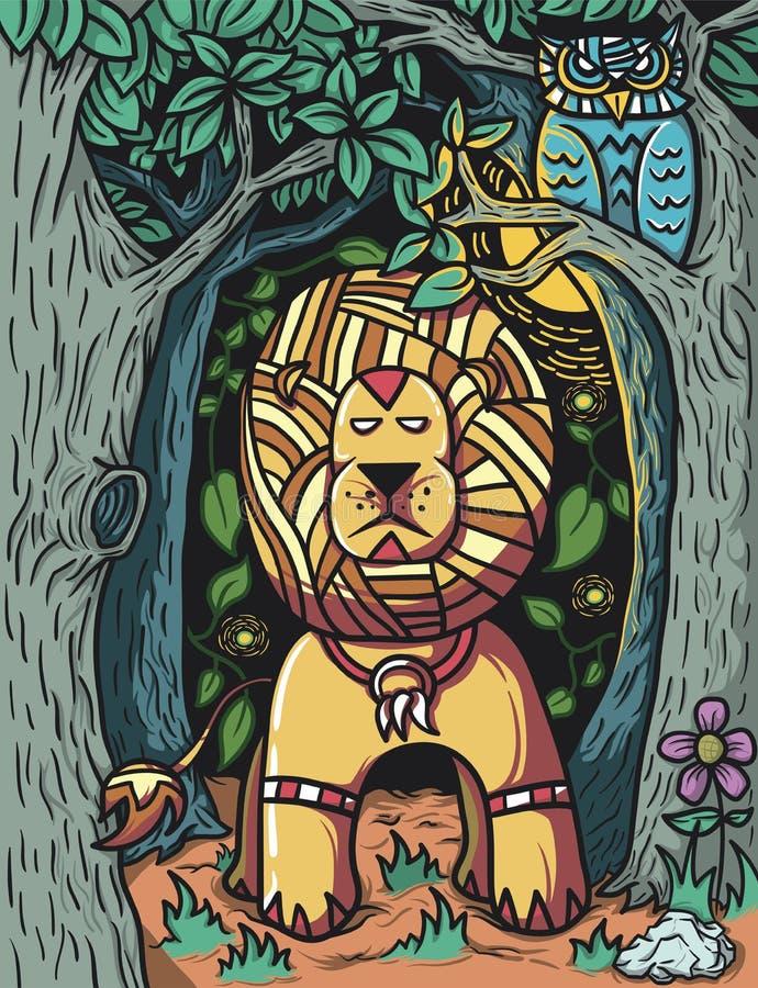 Φύλακας του δάσους διανυσματική απεικόνιση