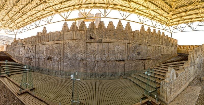 Φύλακες της ιστορικής αυτοκρατορίας σε Persepolis στοκ εικόνα