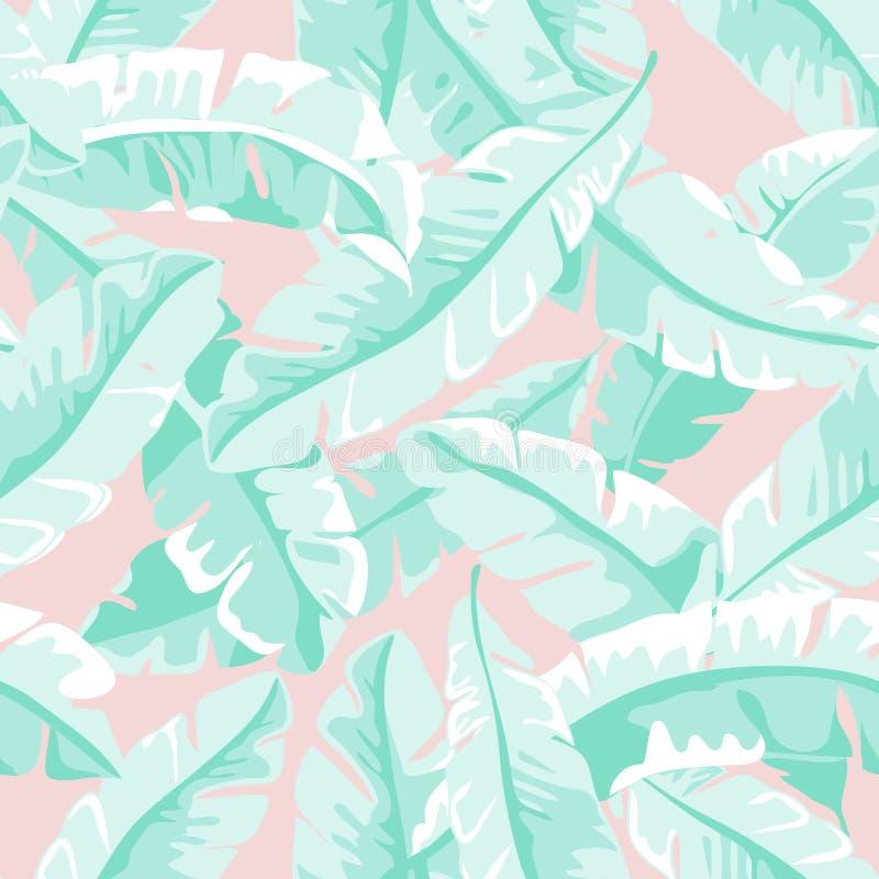 Φύλλα μπανανών ελεύθερη απεικόνιση δικαιώματος