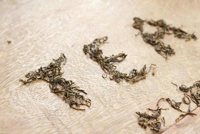 Φύλλα τσαγιού και τσάι λέξης στοκ εικόνες με δικαίωμα ελεύθερης χρήσης