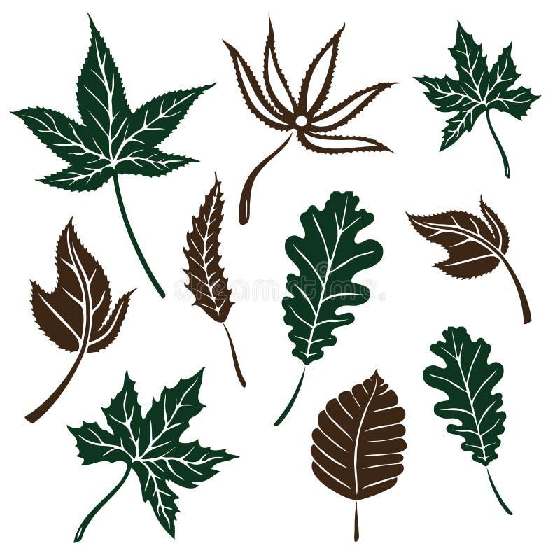 Φύλλα, φθινόπωρο απεικόνιση αποθεμάτων