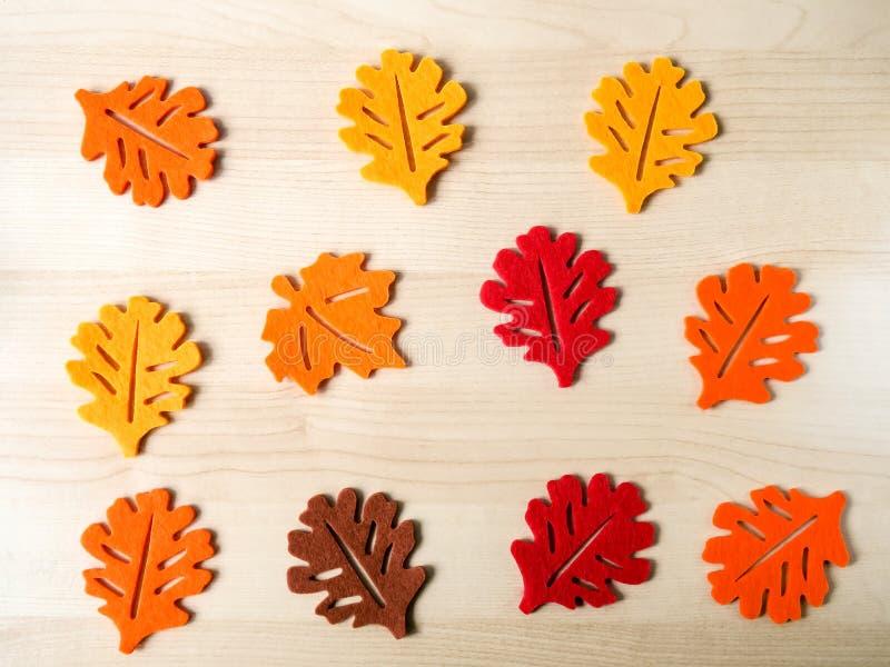 Φύλλα φιαγμένα από αισθητός στοκ εικόνα
