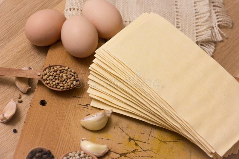 Φύλλα Lasagna στοκ φωτογραφία με δικαίωμα ελεύθερης χρήσης