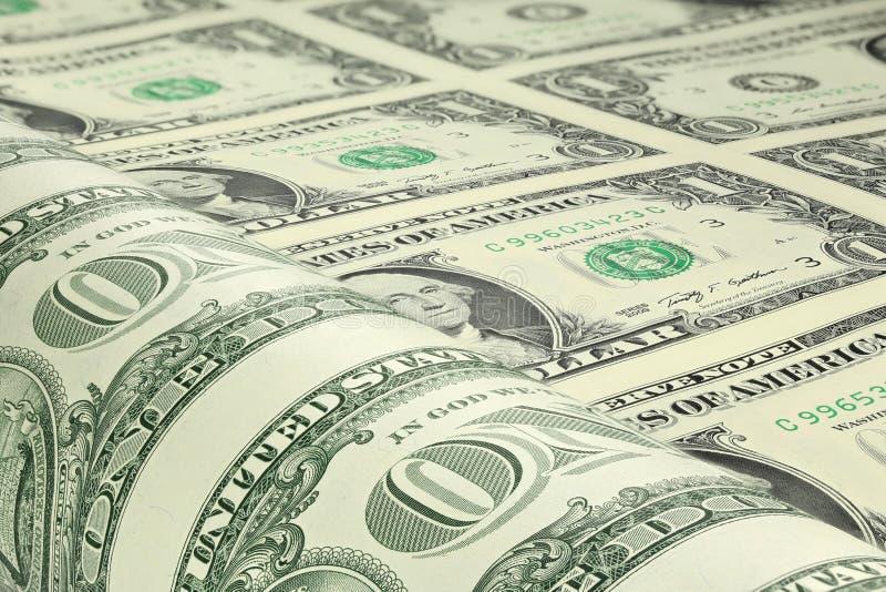 Φύλλο αμερικανικών δολαρίων στοκ εικόνα με δικαίωμα ελεύθερης χρήσης