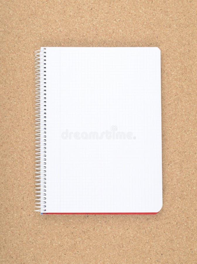 Φύλλο από ένα σημειωματάριο στοκ εικόνες
