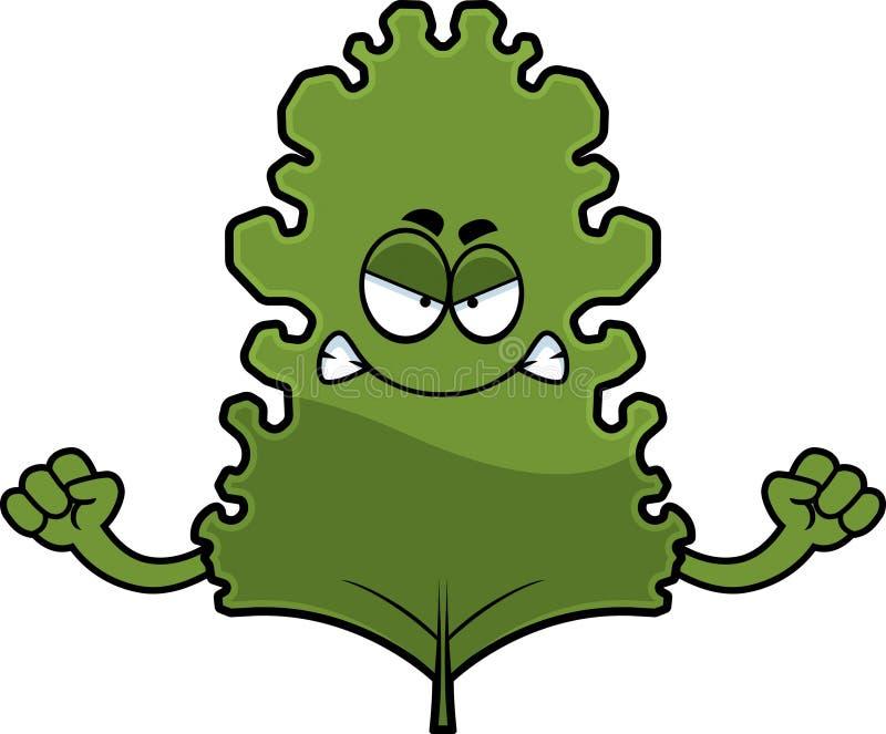 Φύλλο του Kale κινούμενων σχεδίων απεικόνιση αποθεμάτων