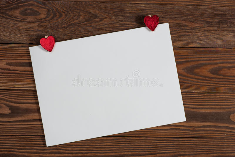 Φύλλο Copyspace του εγγράφου με τα Χριστούγεννα καρδιών decorationsconcep στοκ φωτογραφίες με δικαίωμα ελεύθερης χρήσης