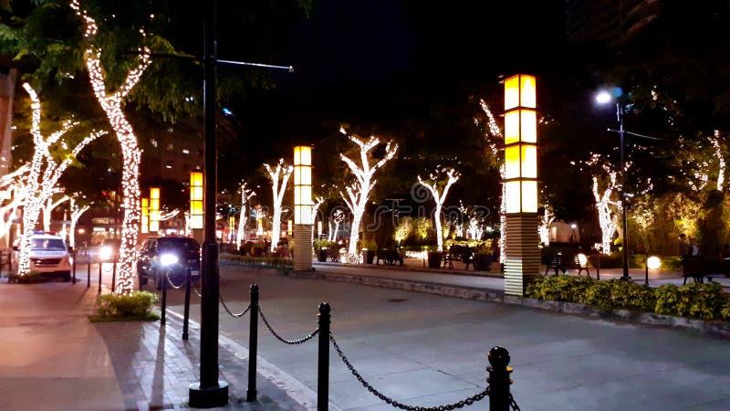 Φώτα στο Estancia Capitol Commons, Pasig Philippines Χριστούγεννα 2019! στοκ εικόνες με δικαίωμα ελεύθερης χρήσης