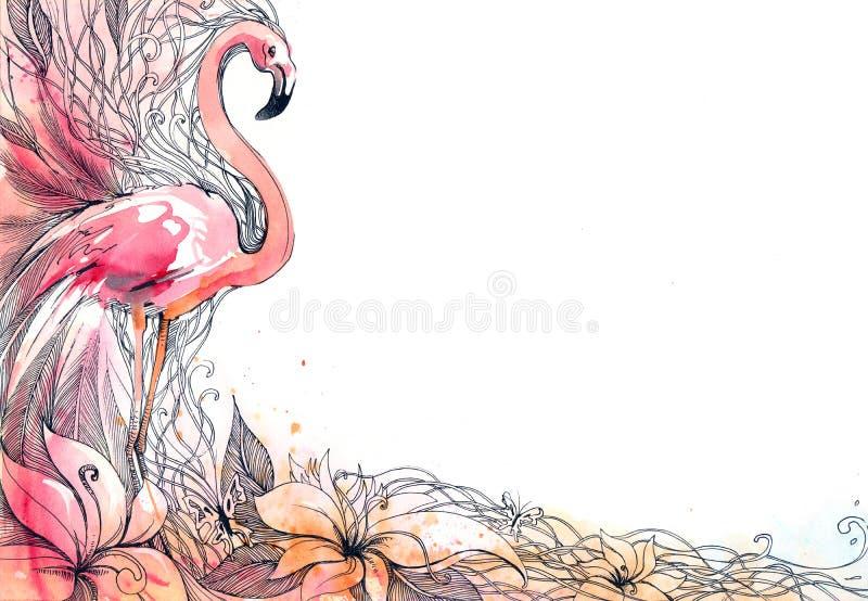 Φλαμίγκο απεικόνιση αποθεμάτων