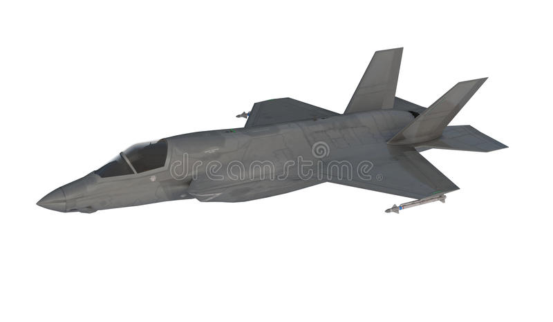 Φ 35, αμερικανικό στρατιωτικό πολεμικό αεροσκάφος Αεροπλάνο αεριωθούμενων αεροπλάνων Μύγα στα σύννεφα διανυσματική απεικόνιση