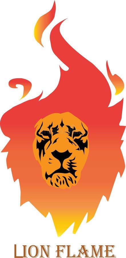 Φλεμένος διάνυσμα λιονταριών ελεύθερη απεικόνιση δικαιώματος