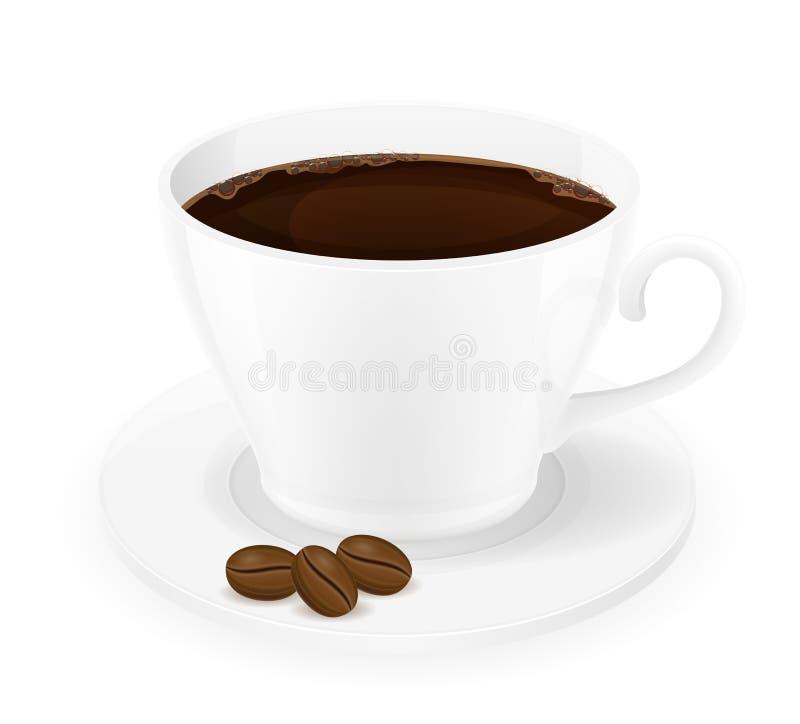 Φλιτζάνι του καφέ και διανυσματική απεικόνιση σιταριών διανυσματική απεικόνιση