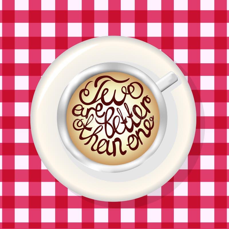 Φλιτζάνι του καφέ Πρότυπο προτύπων με την εγγραφή ελεύθερη απεικόνιση δικαιώματος