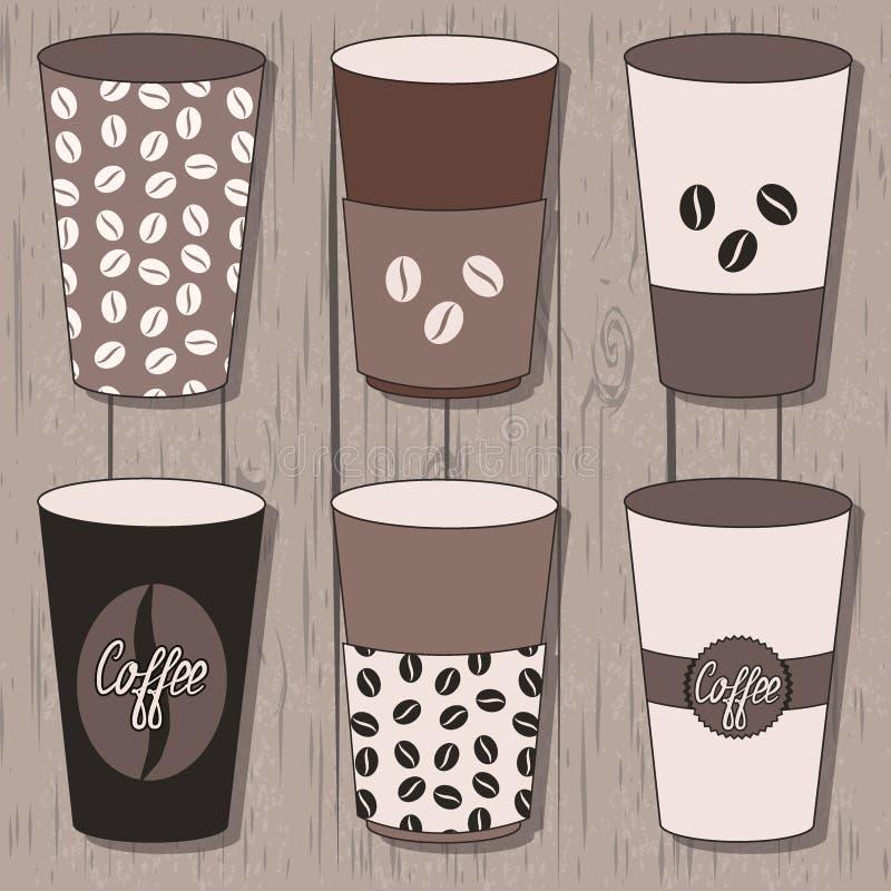 φλυτζάνια καφέ που τίθεντ&al διανυσματική απεικόνιση